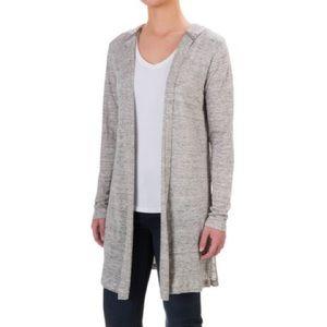 Cynthia Rowley linen hooded cardigan shirt tunic